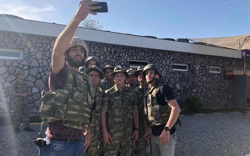 """Qarabağ"""" klubunun futbolçuları cəbhə bölgəsində olublar"""