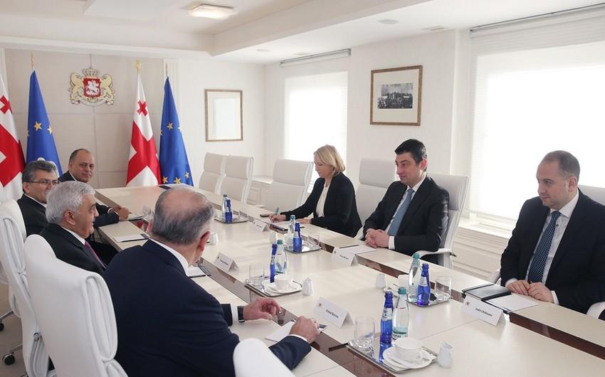 SOCAR prezidenti Gürcüstanın Baş naziri ilə görüşüb