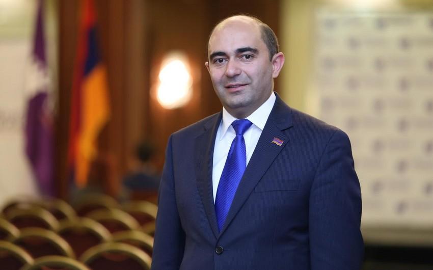 Ermənistanlı deputat: Hökumət iqtisadiyyatla bağlı yalan məlumat verib