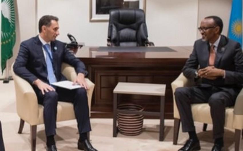 """Ruanda prezidenti """"Azərkosmos""""un rəhbərini qəbul edib"""
