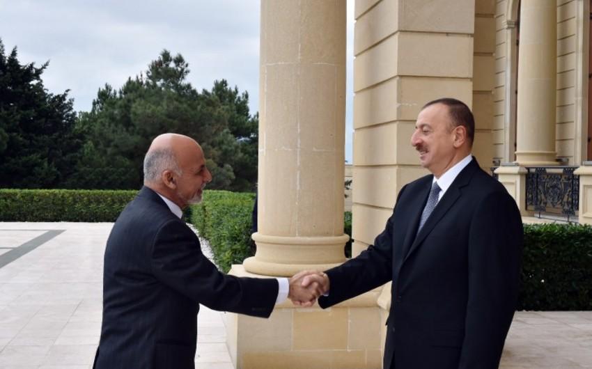 Prezident İlham Əliyev Əfqanıstan Prezidenti ilə görüşüb