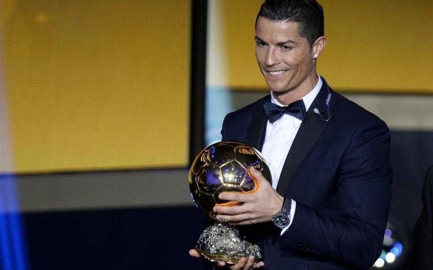 Kriştianu Ronaldu üçüncü dəfə Qızıl topun sahibi olub