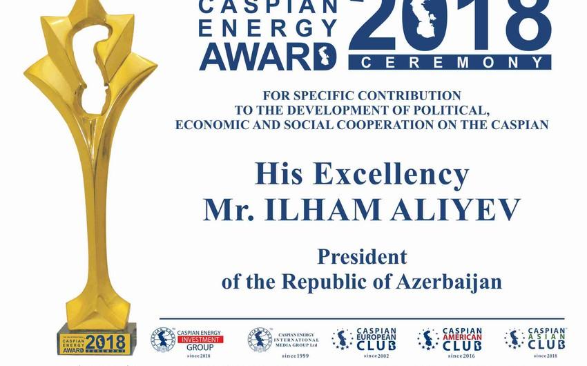 Xəzəryanı ölkələrin prezidentlərinə Caspian Energy Award təqdim olunacaq