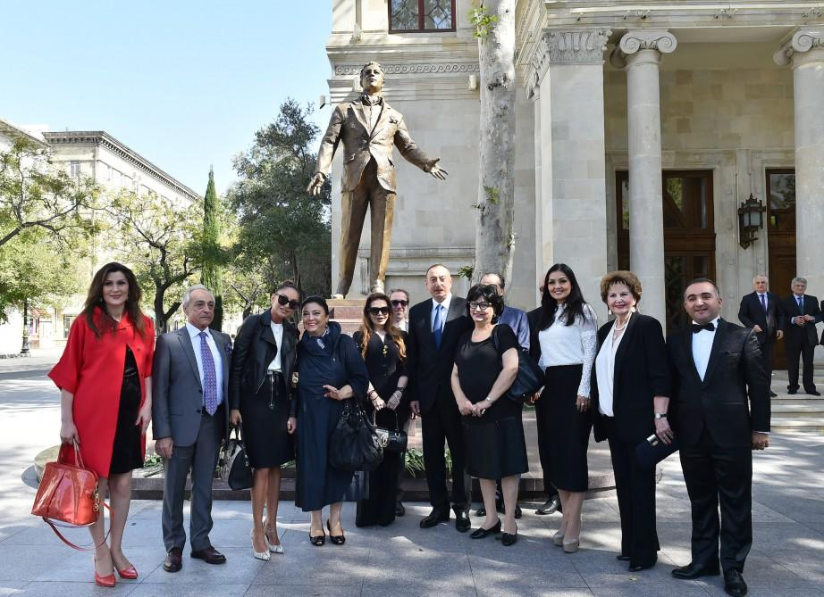 President attended opening of a monument to world-famous singer Rashid Behbudov - UPDATED