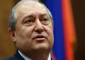 Ermənistan prezidenti: Ölkədə növbədənkənar parlament seçkiləri keçirilməlidir