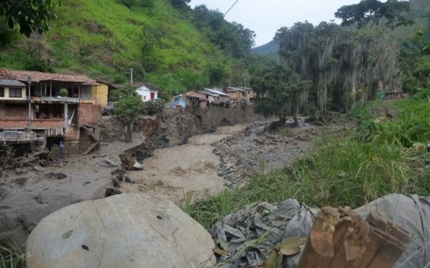 Victims of landslide buried in Colombia