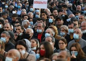 Yerevanda Paşinyan əleyhinə aksiya keçirilir