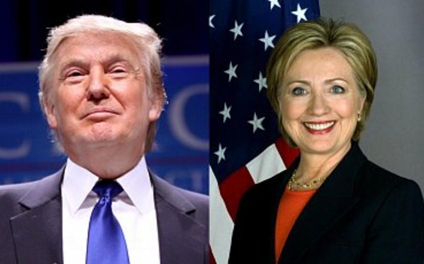 Donald Tramp ilk dəfə reytinqdə Hillari Klintona çatıb