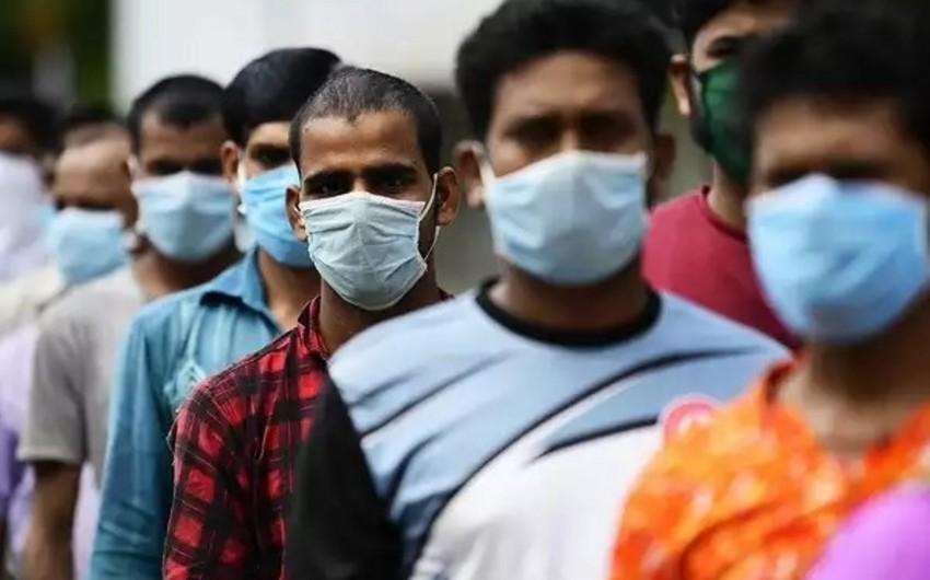Hindistanda koronavirusa yoluxanların sayı 56 mini ötdü