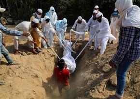 Hindistanda bir gündə 420 nəfər virusdan ölüb