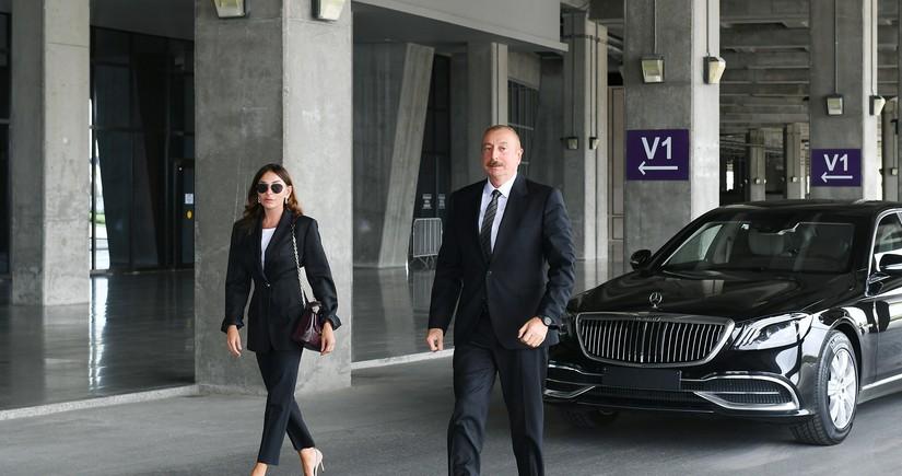Prezident və birinci xanım Pirşağıda təməlqoyma mərasimində iştirak ediblər