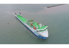 RoPax ferry 'Azerbaijan' embarks on its first voyage