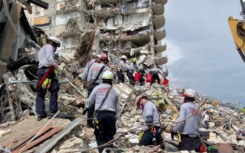 Floridada çökən binada ölənlərin sayı 36-ya yüksəldi