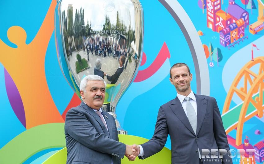 UEFA prezidenti: Azərbaycanın avrokubok finalı keçirmə şansı var - FOTO