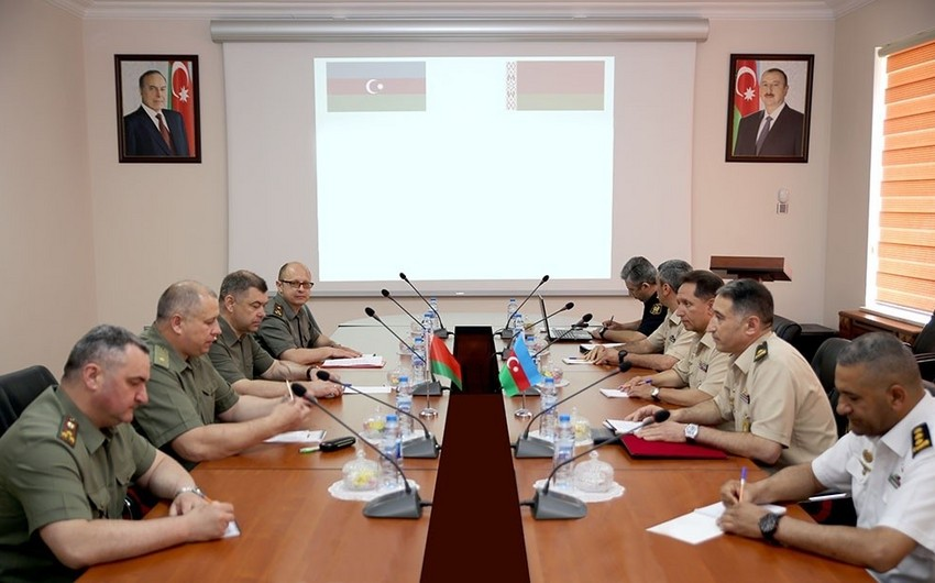 Bakıda Azərbaycan və Belarus generalları arasında görüş keçirilib