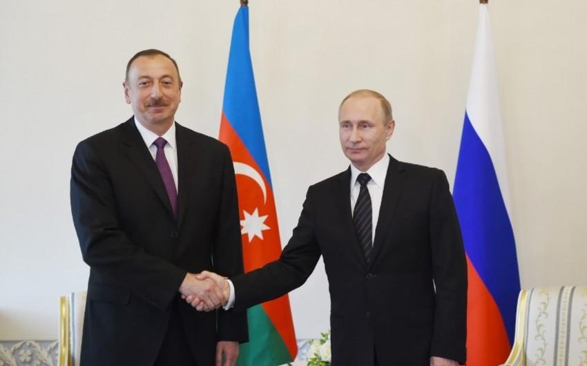 Ilham Aliyev, Vladimir Putin mull restoration of economic ties, transport communications in South Caucasus