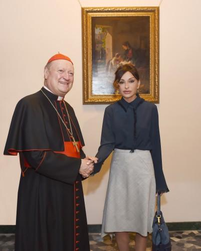 Azerbaijani First Lady meets Vatican`s Minister of Culture