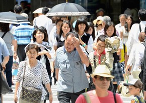 Yaponiyada son bir həftədə 8,1 min nəfəri gün vurub