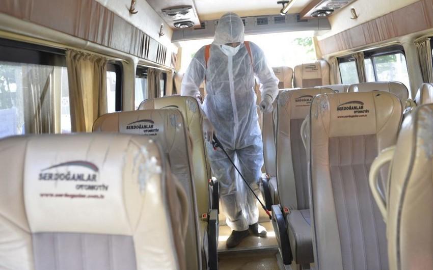 Lənkəranda avtobuslar dezinfeksiya edilir