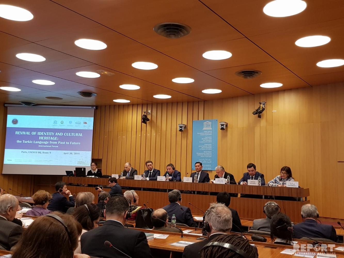 Paris hosts Revival of Identity and Cultural Heritage: Turkic Language from Past to Future forum