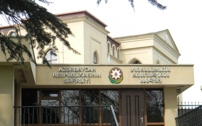 Azərbaycan səfirliyi gürcü diplomatları təbrik edib