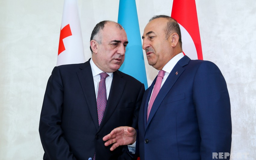 Azerbaijani Foreign Minister meeting with his Turkish counterpart