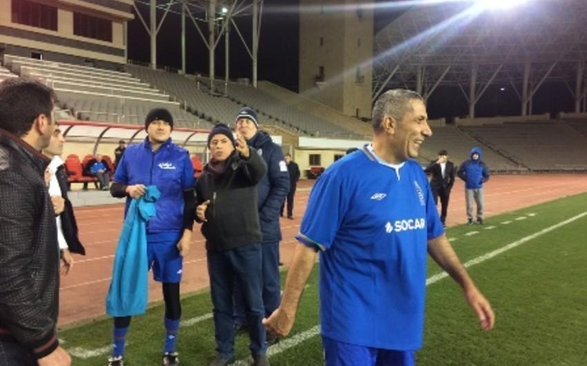 Deputatlarla jurnalistlər arasında futbol üzrə yoldaşlıq oyunu keçirilib