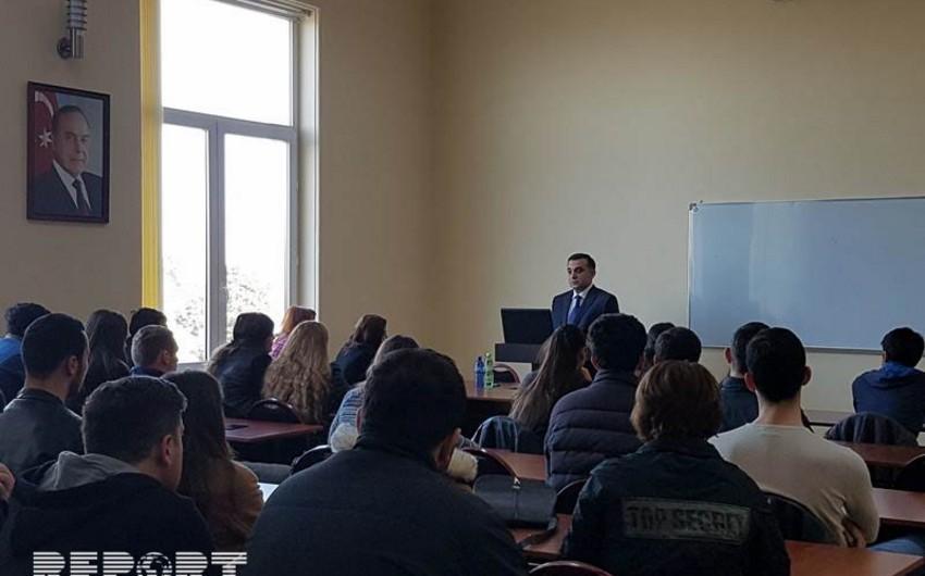 Baş konsul Batumi Dövlət Universiteti tələbələrinə Ermənistanın işğalçılıq siyasətindən danışıb