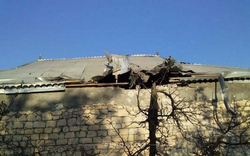 От обстрела армян в Тертере серьезно поврежден дом