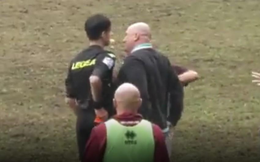 В Италии футбольный тренер ударил по лицу судью и ушел в отставку