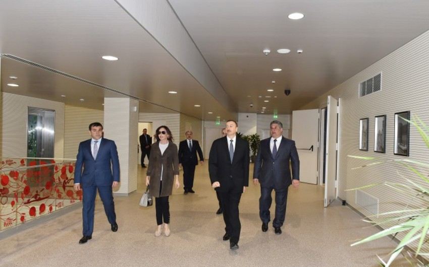 Prezident İlham Əliyev Bakı İdman Sarayında əsaslı təmirdən sonra yaradılan şəraitlə tanış olub