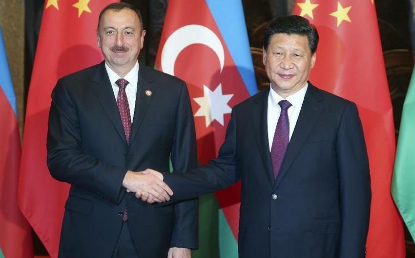 Президент Ильхам Алиев направил поздравительное письмо председателю Китайской Народной Республики