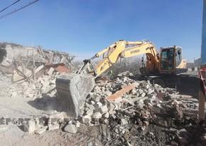Gəncədə raket hücumu nəticəsində dağılan evlərin inşasına başlanıldı