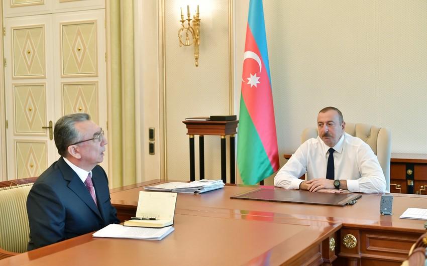 President Ilham Aliyev received head of Baku City Executive Authority