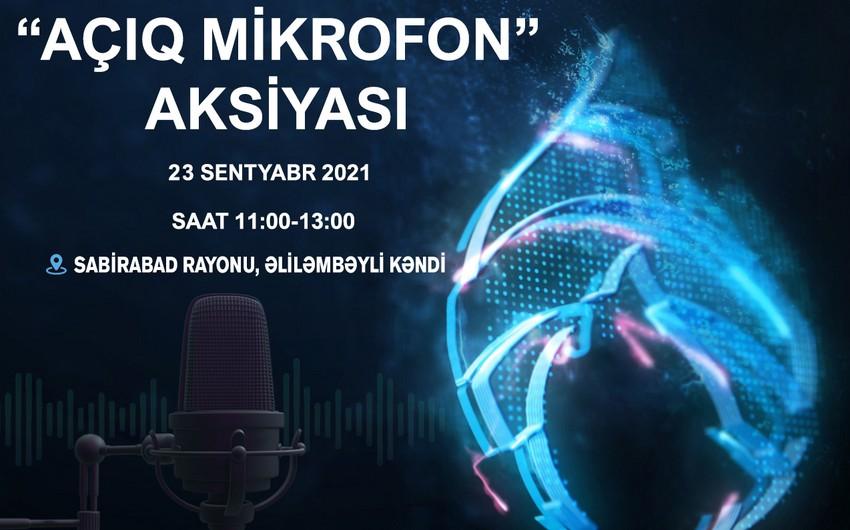 """""""Azəriqaz""""ın növbəti """"Açıq mikrofon"""" aksiyası sabah Sabirabadda təşkil olunacaq"""