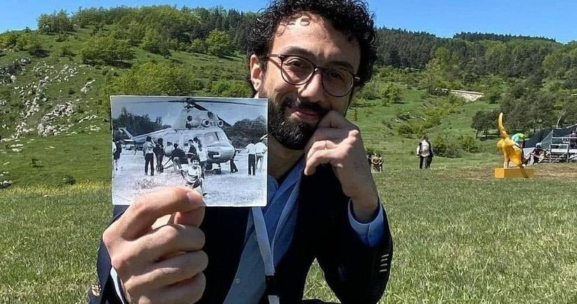 Cıdır düzündə 29 il əvvəlki şəkli ilə foto çəkdirdi - FOTO