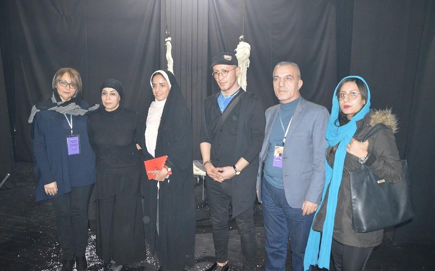 """Gənc Tamaşaçılar Teatrı İranda """"Cəza"""" təkadamlıq dramını nümayiş etdirib"""
