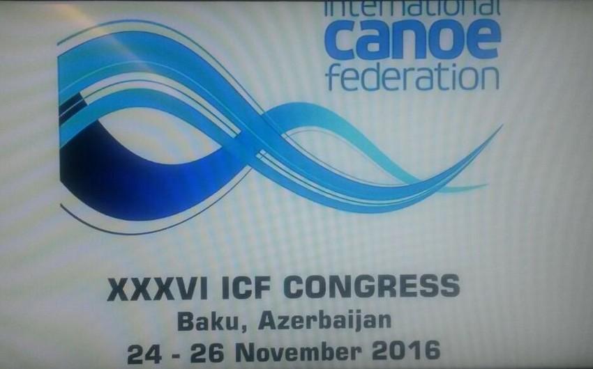 Beynəlxalq Kanoe Federasiyasının prezidenti Bakıda seçiləcək