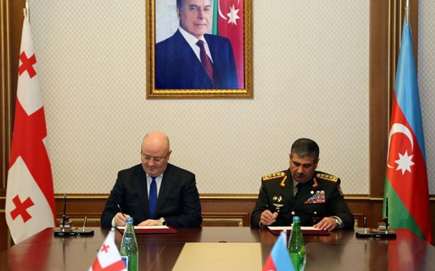 Azerbaijan and Georgia ink military cooperation Plan 2018