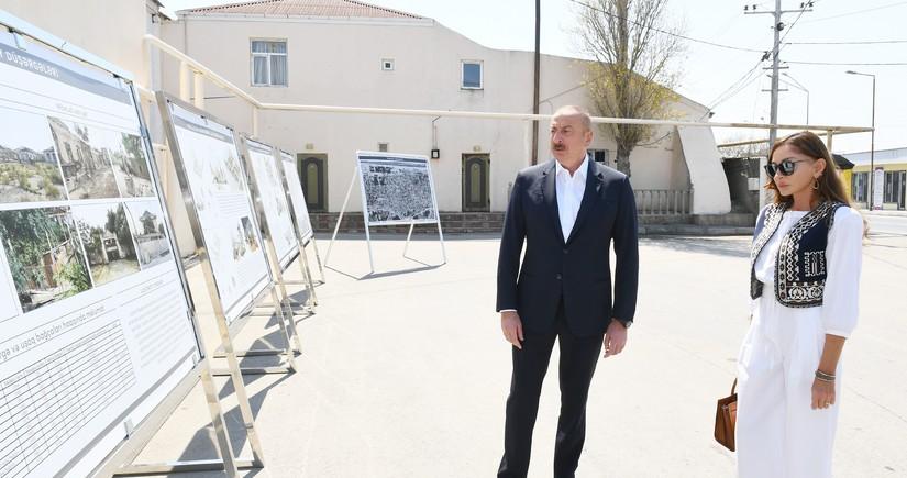 Prezident və birinci xanım Pirşağıda təməlqoyma mərasimində iştirak ediblər - YENİLƏNİB-2