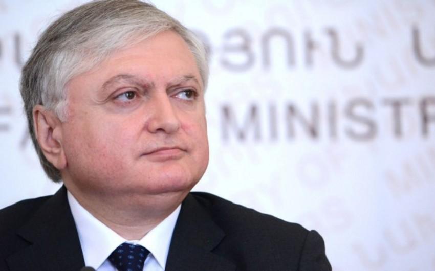 KİV: Ermənistan xarici işlər naziri vəzifəsindən azad ediləcək