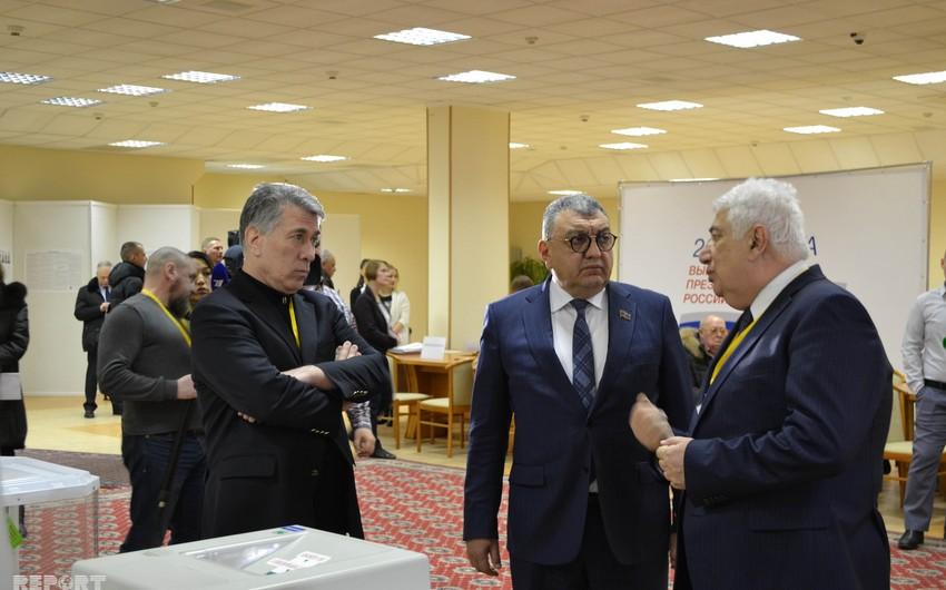 Azərbaycan deputatları Rusiyada keçirilən prezident seçkilərini müşahidə edir - FOTO