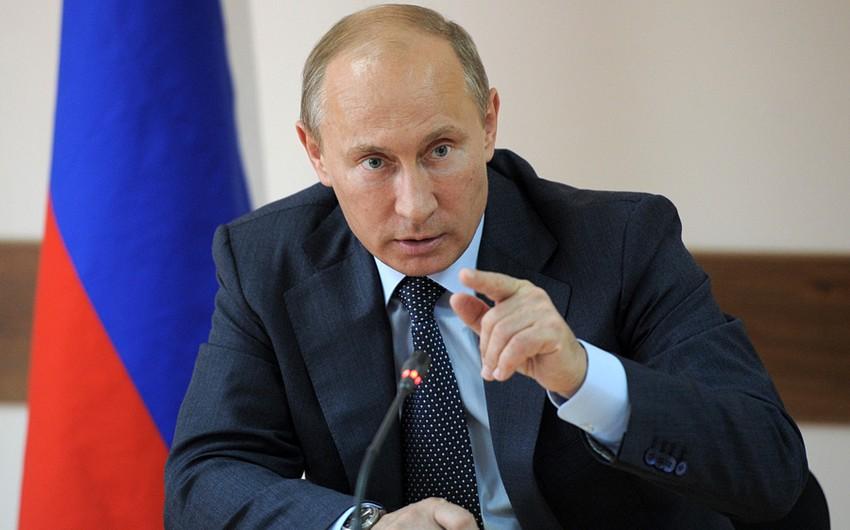 Rusiya prezidenti: ABŞ bu gün tələyə düşüb