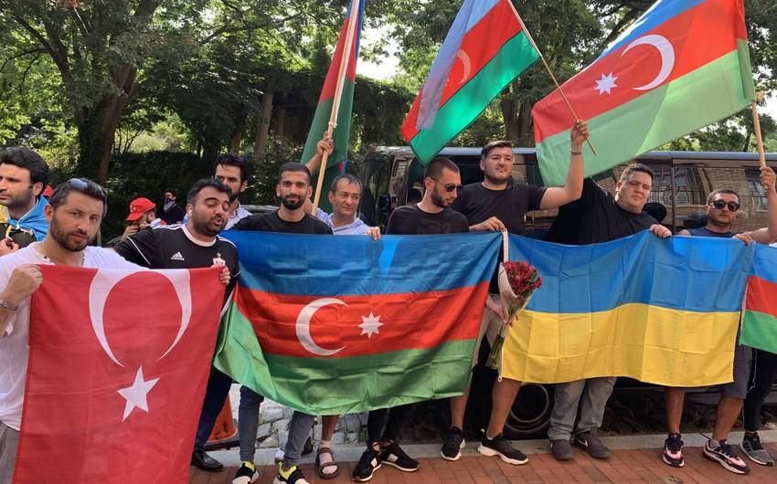 Vaşinqtonda Azərbaycan və Ukraynaya dəstək aksiyası keçirilib