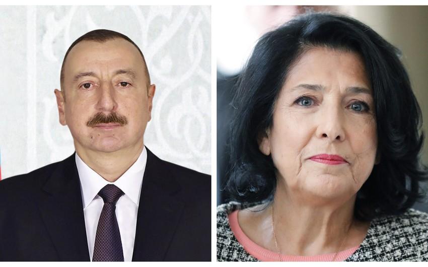 Prezident İlham Əliyev Gürcüstanın yeni seçilmiş Prezidentini təbrik edib