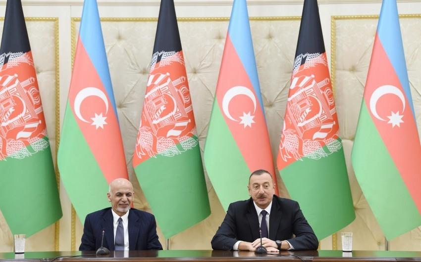 Президент Афганистана позвонил президенту Азербайджана