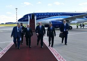 Azerbaijan's Prime Minister leaves for Minsk