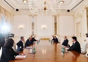 Azerbaijani president meets visiting Croatian foreign minister
