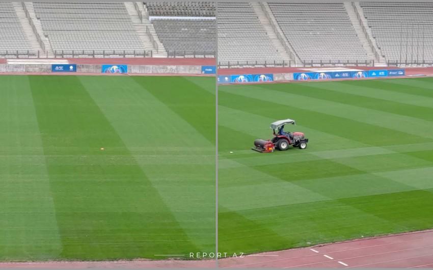 Tofiq Bəhramov adına Respublika stadionu oyunlara hazırdır