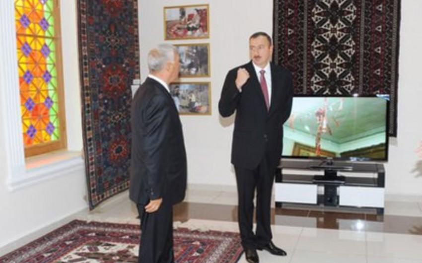 Azərbaycan prezidenti Xalça Muzeyinin açılışında iştirak edib